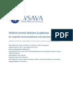 WSAVA Animal Welfare Guidelines
