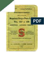 Manual Máquina de Coser Singer Antigua
