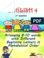 Arranging 8-10 Words powerpoint presentation