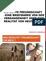 Die Echte Freundschaft –Eine Briefmarke Von Der