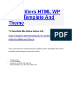 Air Purifiers HTML WP Niche Template and Theme