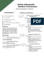 Curriculum Kelvin Medina