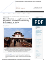 Liberalization of Legal Services