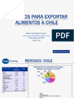exportacion a chile