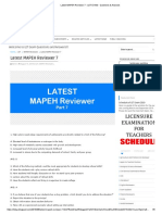 Latest MAPEH Reviewer 7 LET EXAM Questions Answers
