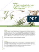 Eurycoma longifolia como recurso ergogenico