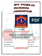 Chemistry Eavporation