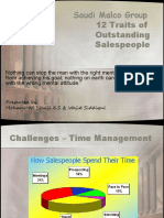 12 Traits for Salesmen