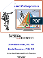nutrition and osteoporosis