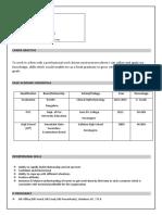 Maruthi NC Resume