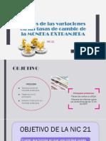 Nic 21 Cambios de La Moneda Extranjera