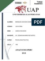 Fta-psicologia Politica -Daniel Angel Mendoza Acevedo- 2015127884-Viii Ciclo