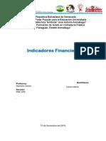 Ejercicio de Indicadores Financieros Gestiòn Financiera