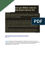 CIDH Denuncia Que Bolivia Exime de Responsabilidad Penal a Fuerzas Del Orden
