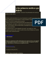 Cuba Recibe a Los Primeros Médicos Que Regresan de Bolivia