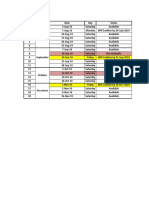 Dates Available Planner