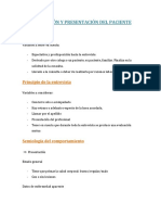 Descripción y Presentación Del Paciente