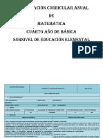 Pca Matematica Cuarto