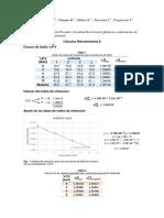 Cálculos Refractometría II