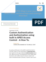 Custom Authentication and Authorization using built in APEX Access Control - A How To. | Oracle Application Express Blog