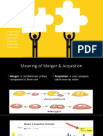 Merger and acquisition p