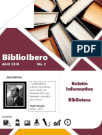 Boletín de Biblioteca No. 2 (Abril)