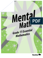Mental Math - Grade 11 Essential Mathematics
