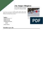 Esquí Alpino en Los Juegos Olímpicos