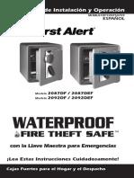 First Alert 2092DF Digital Safe Manual - Spanish