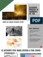 Final Motivación Accidente nuclear de Chernobyl de 1986