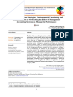 The Role of Business Strategis, Environmental Uncertainty and Decentralization as Moderating the Effect of Management