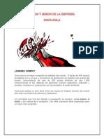 Vision y Mision de La Empresa Coca Cola