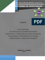 Bases III Concurso Docentes A