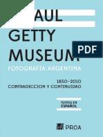 Getty Museum-Fotografía Argentina