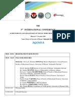 Programi i Konferences 8 Nentor 2019, Conference Program
