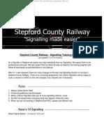 SCR Signalling Booklet V1.1