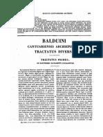 1185-1190, Balduinus Cantauriensis Archiepiscopus, Tractatus Diversi, MLT