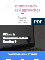 Communication Studies Approaches