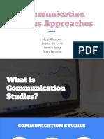 Communication Studies Approaches