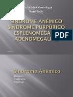 Síndrome anemico y adenomegalias