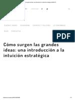 Cómo Surgen Las Ideas_ Una Introducción a La Intuición Estratégica-IMPAQTO