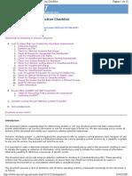Windows Intrusion Detection Checklist