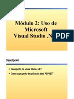 2.- Uso de Microsoft Visual Studio