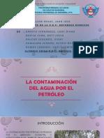 Contaminacion Del Agua Por El Petroleo - Expo