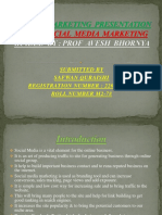 Safwan Quraishi Registration No 2201820060 Social Media Marketing PPT