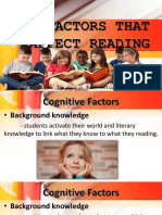 Group 7 Factors That Affect Reading