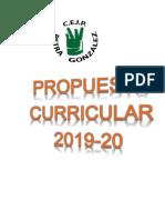 Propuesta Curricular 2019-20