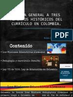 3 Momentos de currículo en Colombia