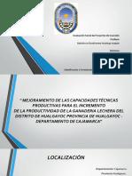 Pip Mejora Productiva en El Distrito de Huaygayoc