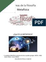 4.-Las Áreas de La Filosofia Metafisica